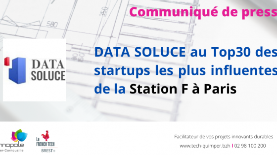 DATA SOLUCE au Top30 des startups les plus influentes de la Station F à Paris