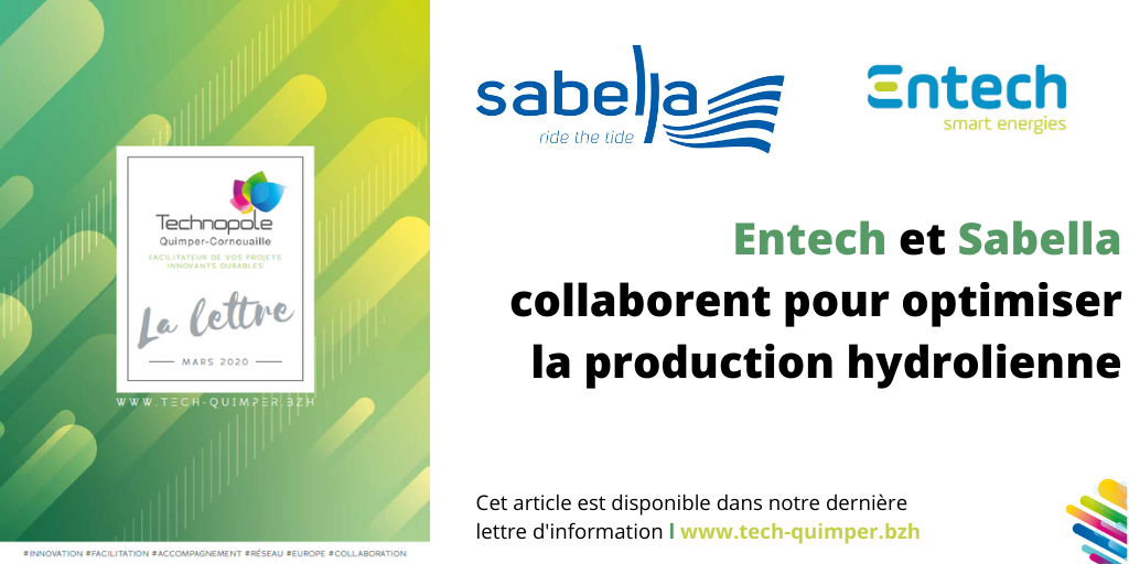 Entech et Sabella collaborent pour optimiser la production hydrolienne